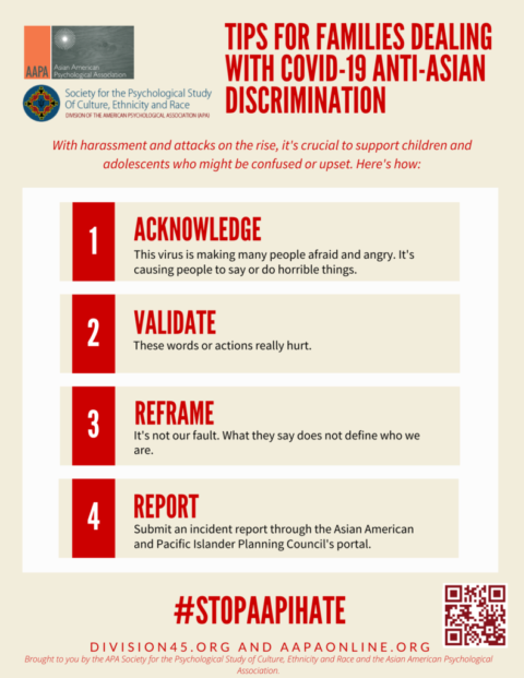 Public Service Announcements for AAPI families facing COVID-19 Discrimination